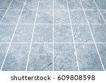 outdoor stone block tile floor...   Shutterstock . vector #609808598
