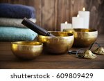tibetan handcrafted singing... | Shutterstock . vector #609809429