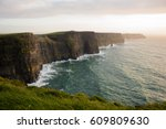 cliffs of moher attraction in... | Shutterstock . vector #609809630