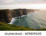cliffs of moher attraction in... | Shutterstock . vector #609809630