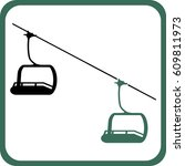 ski cabin icon | Shutterstock .eps vector #609811973