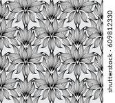 floral seamless pattern. white... | Shutterstock .eps vector #609812330