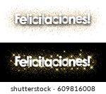 congratulations paper banner... | Shutterstock .eps vector #609816008