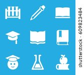 study icons set. set of 9 study ... | Shutterstock .eps vector #609823484