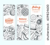 bakery vector illustration.... | Shutterstock .eps vector #609824600