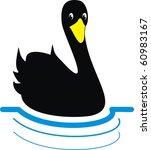 black swan floating on the... | Shutterstock .eps vector #60983167