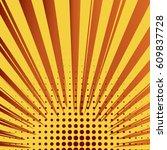 abstract creative concept comic ... | Shutterstock .eps vector #609837728