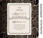 antique baroque luxury wedding... | Shutterstock .eps vector #609844550