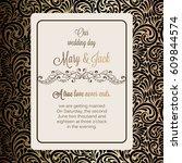 antique baroque luxury wedding... | Shutterstock .eps vector #609844574