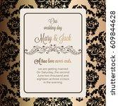 antique baroque luxury wedding... | Shutterstock .eps vector #609844628