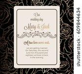 antique baroque luxury wedding... | Shutterstock .eps vector #609844634