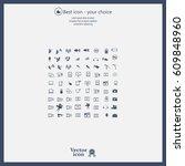 technology icons   Shutterstock .eps vector #609848960