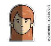 woman cartoon icon   Shutterstock .eps vector #609857348