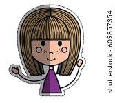 girl cartoon icon   Shutterstock .eps vector #609857354