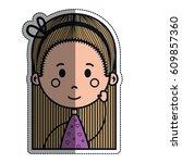 girl cartoon icon   Shutterstock .eps vector #609857360