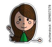 girl cartoon icon   Shutterstock .eps vector #609857378