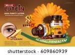 high purity lutein contained in ... | Shutterstock .eps vector #609860939