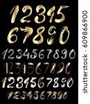 vector set of calligraphic... | Shutterstock .eps vector #609866900
