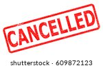 cancelled stamp on white... | Shutterstock . vector #609872123