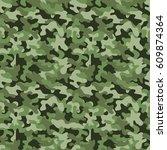 vector seamless military... | Shutterstock .eps vector #609874364