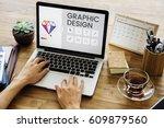 graphic design icon creative... | Shutterstock . vector #609879560