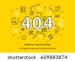 error 404 page with datacenter  ... | Shutterstock .eps vector #609883874