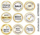set of business banner in... | Shutterstock .eps vector #609888680