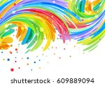 congratulatory background with... | Shutterstock .eps vector #609889094