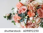 wedding flowers  bridal bouquet ... | Shutterstock . vector #609892250