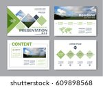 set of presentation layout... | Shutterstock .eps vector #609898568