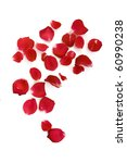 Stock photo rose petals isolated on white 60990238