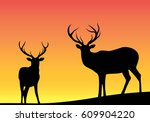 silhouette of an animal | Shutterstock .eps vector #609904220