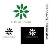 green circle logo  | Shutterstock .eps vector #609909470