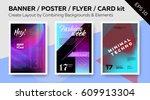 banner   dj poster   night club ... | Shutterstock .eps vector #609913304
