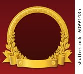 round frame made of gold ... | Shutterstock .eps vector #60991435