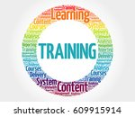 training circle word cloud ... | Shutterstock . vector #609915914