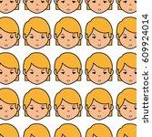 cute woman ethnicity character | Shutterstock .eps vector #609924014
