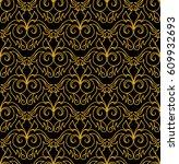 thai style pattern seamless... | Shutterstock .eps vector #609932693
