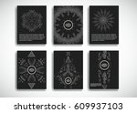 traditional cards design .... | Shutterstock .eps vector #609937103
