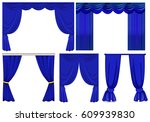 Blue Curtains In Different...