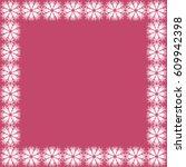 flower vector frame | Shutterstock .eps vector #609942398