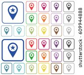 poi gps map location color flat ... | Shutterstock .eps vector #609944888