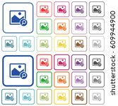 zoom image color flat icons in... | Shutterstock .eps vector #609944900