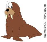 Cartoon Walrus For Babies And...
