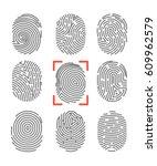 fingerprints or fingertip... | Shutterstock .eps vector #609962579