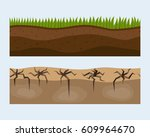 cross section ground slice... | Shutterstock .eps vector #609964670