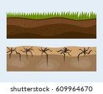cross section ground slice...   Shutterstock .eps vector #609964670