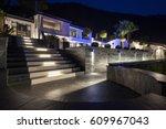 exterior of luxurious modern... | Shutterstock . vector #609967043