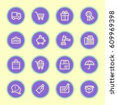 shopping web icons | Shutterstock .eps vector #609969398