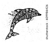 hand drawn textured vintage... | Shutterstock .eps vector #609986426
